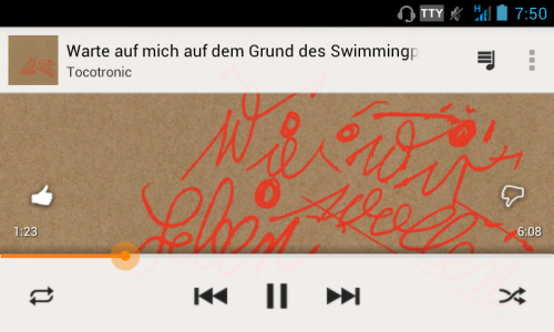 Wie wir leben wollen - Screenshot Google Play Music on Android