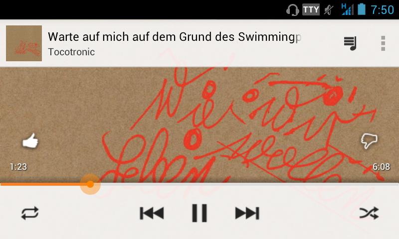 Wie wir leben wollen - Screenshot Google Play Music on Android