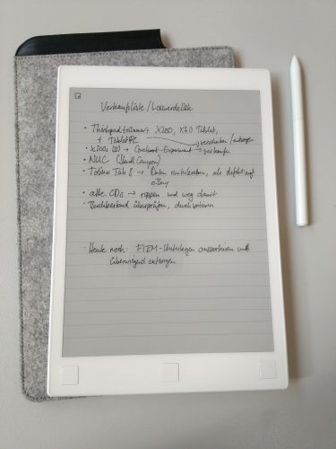 Example of a handwritten note
