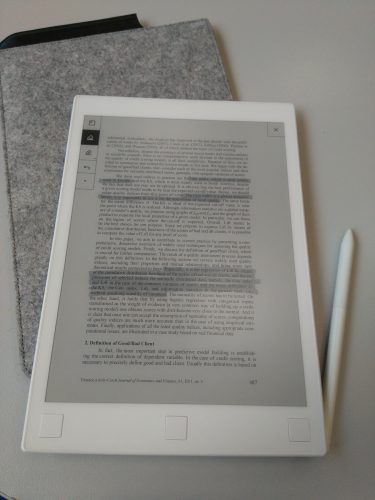 Marking passages on a PDF