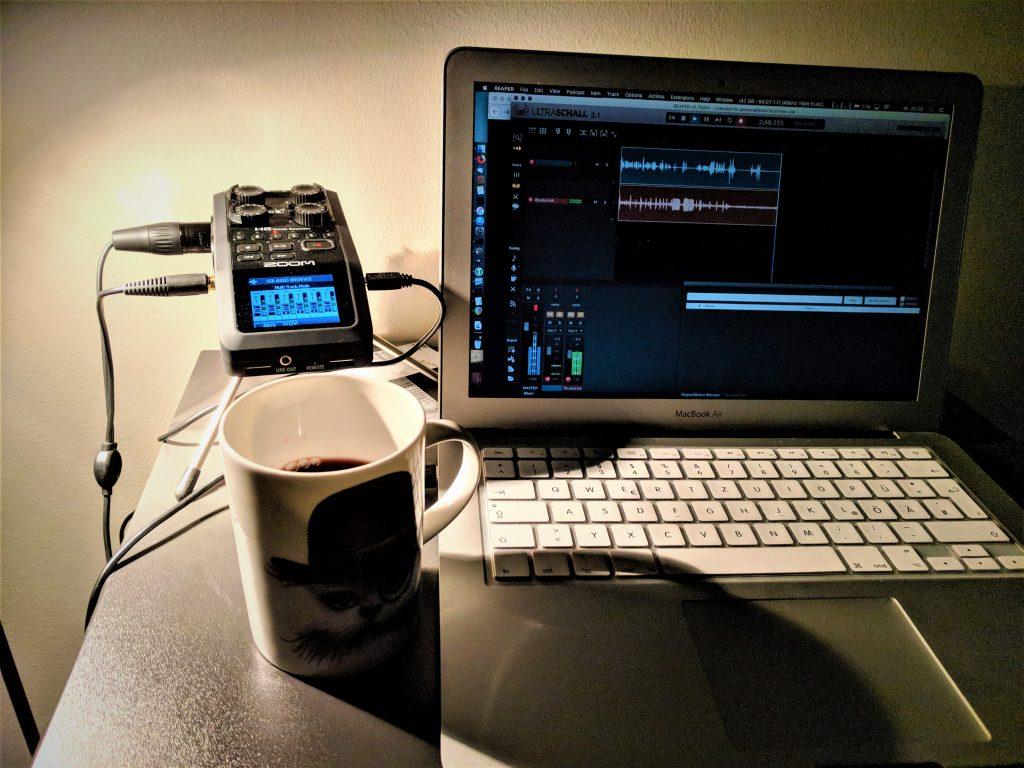 Recording setup in Copenhagen.